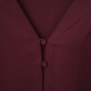 Lucky Brand  beautiful wine color blouse
